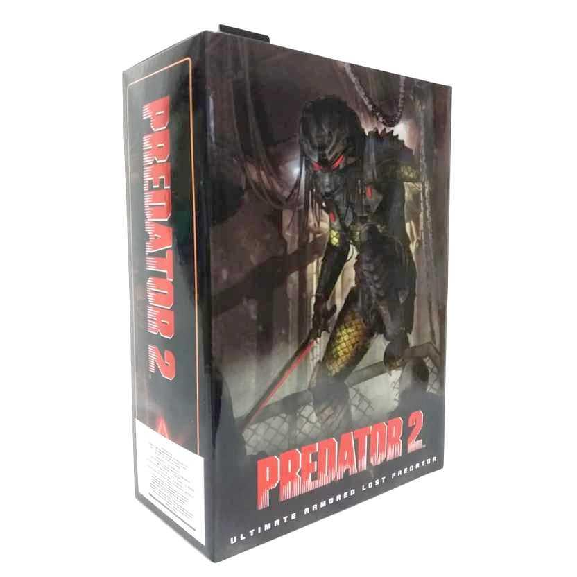 Neca Toys Predador 2 Ultimate Armored Lost Predator com luz na máscara