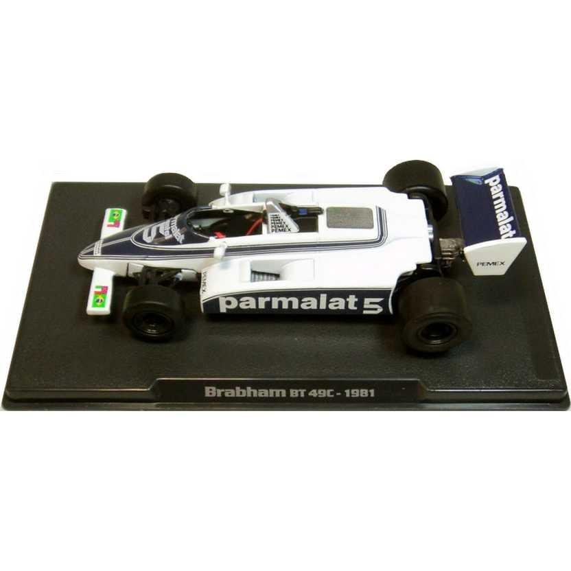 Nelson Piquet Campeão Mundial (1981) Brabham BT 49C escala 1/43 com bandeira do Brasil