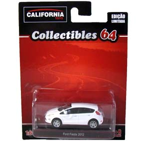 New Fiesta hatch branco (2012) Greenlight California Toys Collectibles escala 1/64