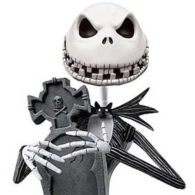 Nightmare Before Christmas NBX Scary Jack Skellington Bobble Head