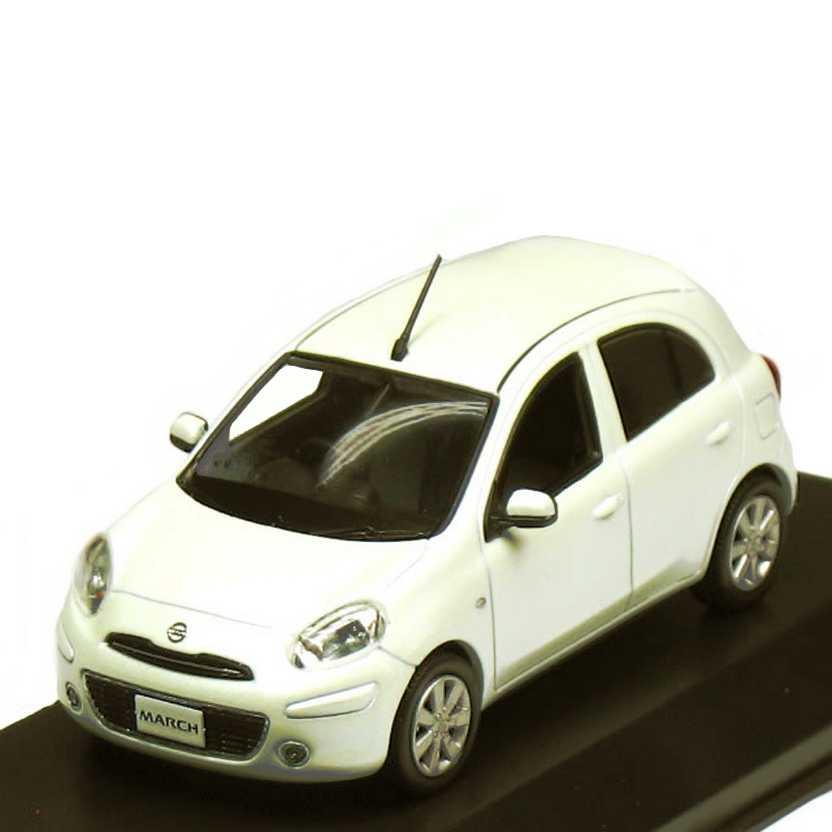 Nissan March cor branco pérola - Kyosho Jcollection escala 1/43