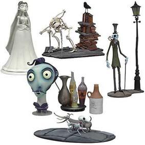 Noiva Cadáver boneca Corpse Bride Mini Collectors series 2 box set McFarlane