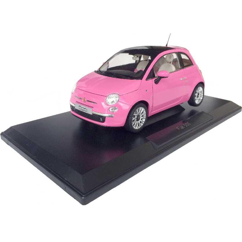 Norev Diecast Brasil Fiat 500 Rosa / Pink (2010) escala 1/18