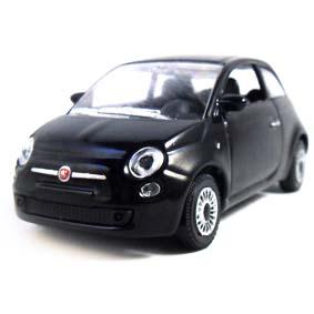 Novo Fiat 500 2012 cor preta marca Norev escala 1/43