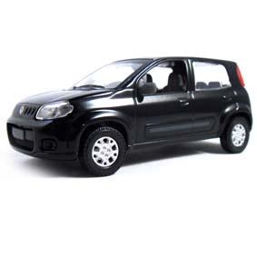 Novo Fiat Uno Attractive 1.4 2012 cor preta Norev escala 1/43