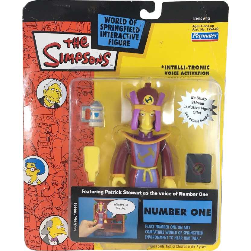 Number One (série 12) voz de Patrick Stewart The Simpsons Playmates action figures