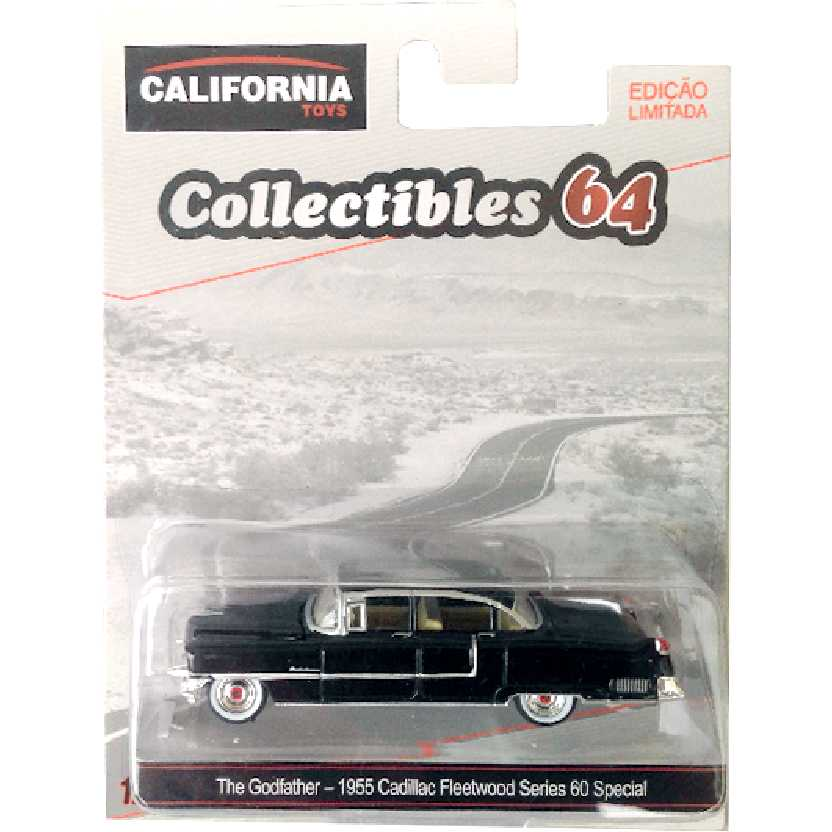 O Poderoso Chefão 1955 Cadillac Fleetwood Series 60 (The Godfather) Greenlight escala 1/64