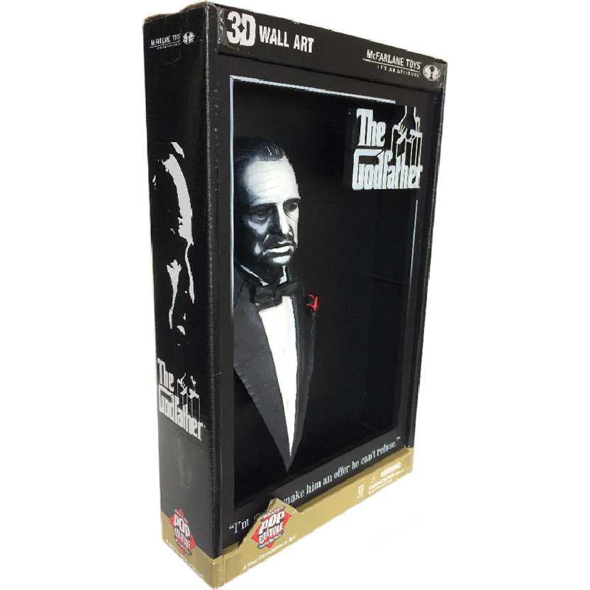 O Poderoso Chefão The Godfather 3D Movie Poster Don Vito Corleone