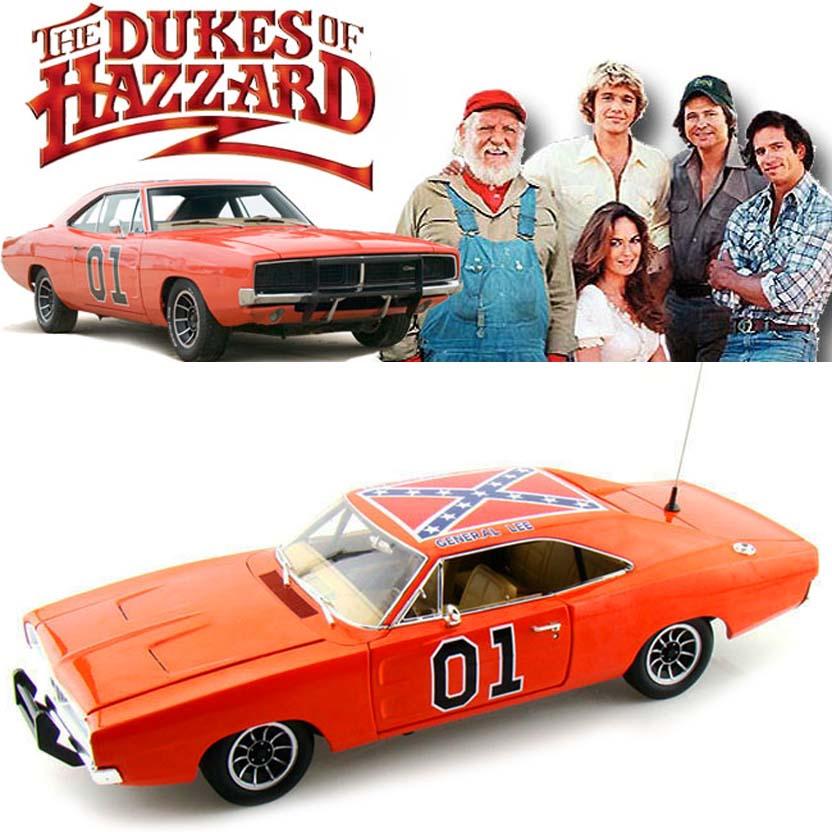Os Gatões : Dodge Charger General Lee (1969) escala 1/18 Dukes of Hazzard