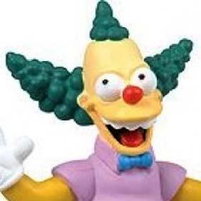 Os Simpsons : Boneco Krusty The Clown com som (The Simpsons) ideal para o painel do carro