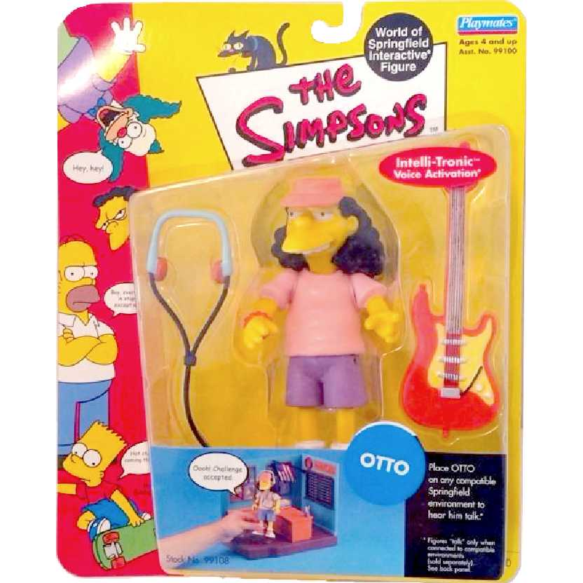 Otto (World of Springfield Interactive figure) The Simpsons Playmates action figures