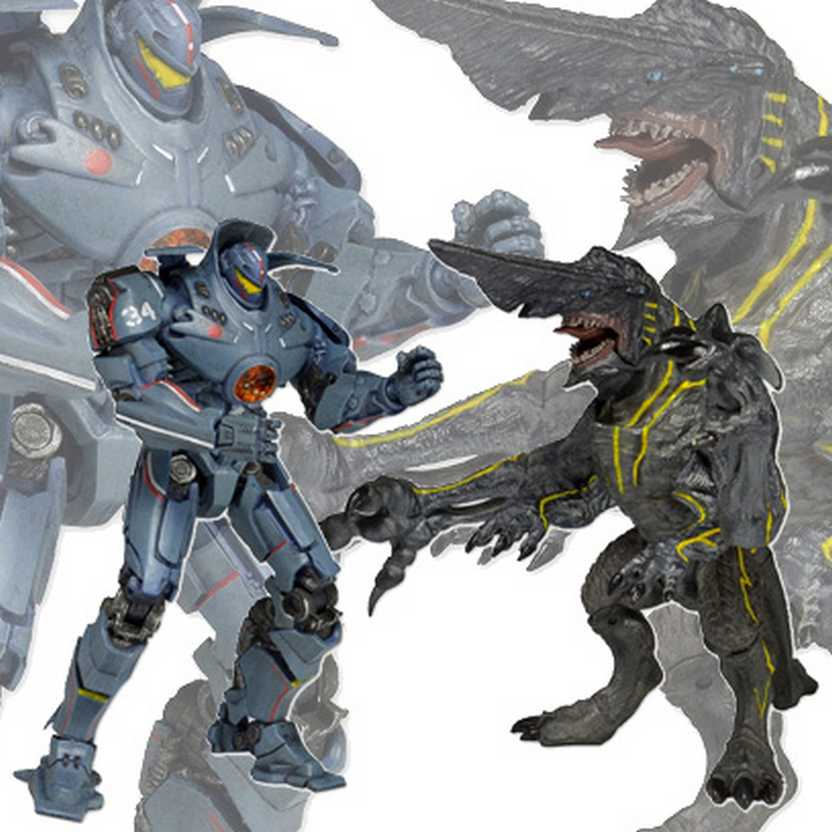 Pacific Rim Jaeger Gipsy Danger vs Knife Head Kaiju - Neca Toys action figures