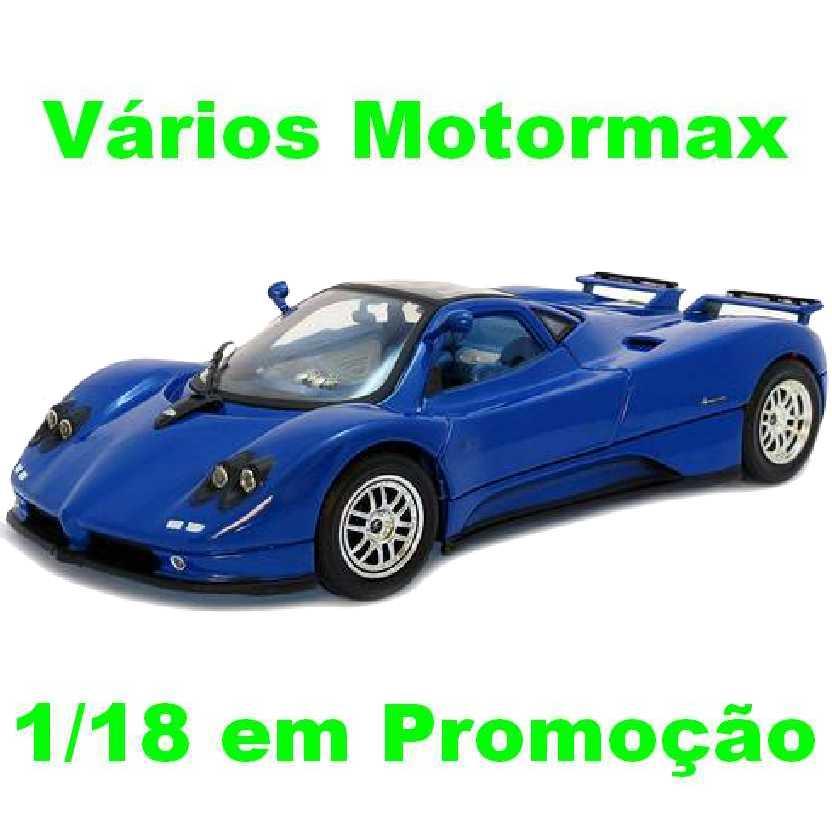 Pagani Zonda C12 cor azul Motormax escala 1/18 para colecionar (barato)
