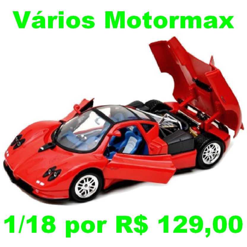 Pagani Zonda C12 marca Motormax escala 1/18 para coleção
