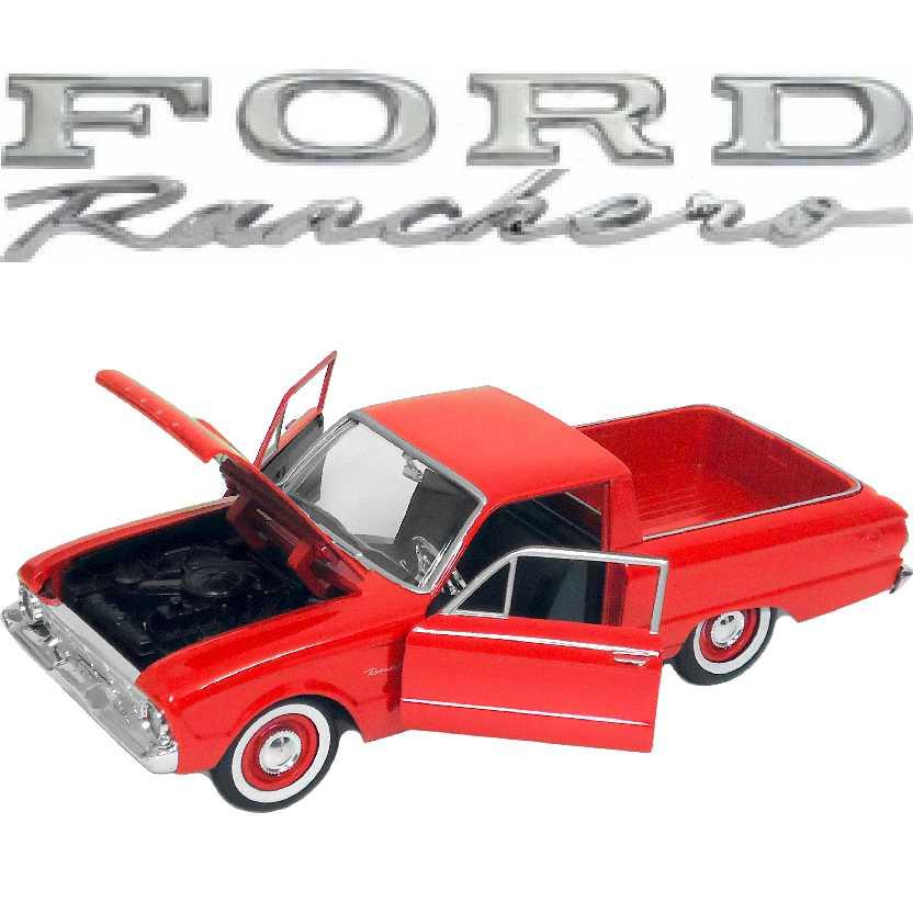 Pickup Ford Ranchero vermelho (1960) marca Motormax escala 1/24