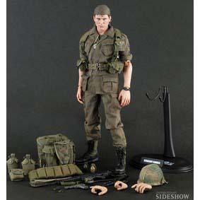 Platoon Hot Toys Action Figures Sergeant Barnes Collectible Figure ( Figuras de Ação )
