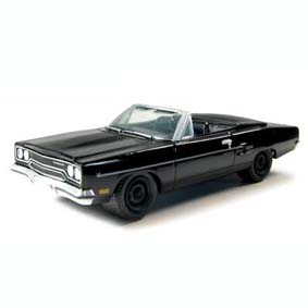 Plymouth Road Runner (1970) Black Bandit Greenlight 1/64 R4 27640