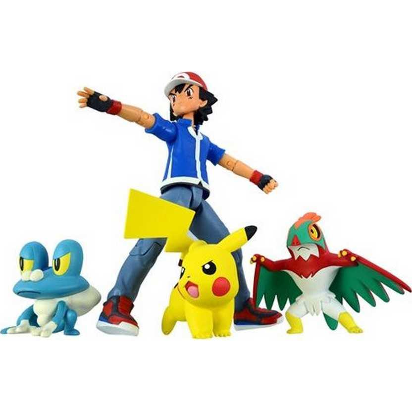 Pokemon Collection X and Y Satoshi Ash Ketchum, Pikachu, Hawlucha e Froakie