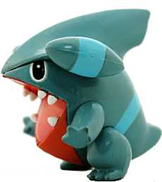 Pokemon Monster Collection MC-121 Gible Takara / Tomy figure (aberto)