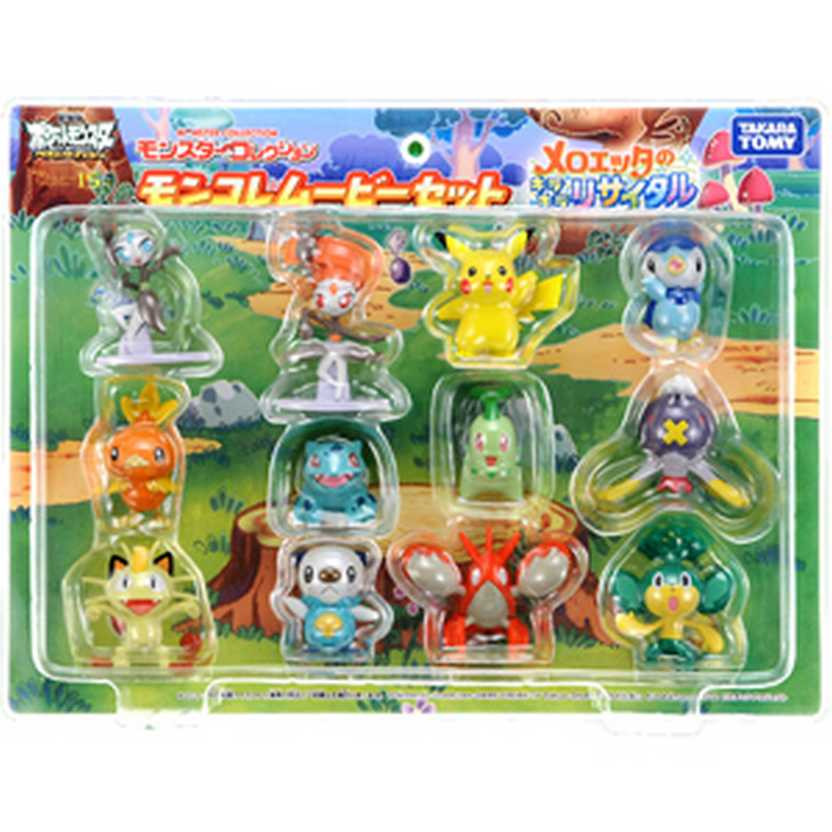 Pokemon Monster Collection Meloetta 2012 Movie Figures Toy Box Set of 12