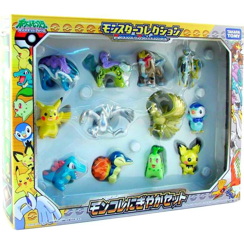 Pokemon Pocket Monster Collection Full Figure Set com 12 bonecos