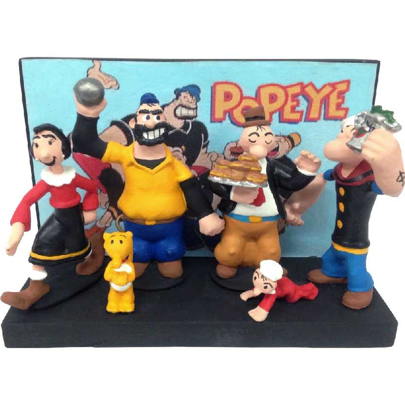 Popeye e sua turma (diorama) +Olivia+Brutus+Dudu+Gugu+Eugênio