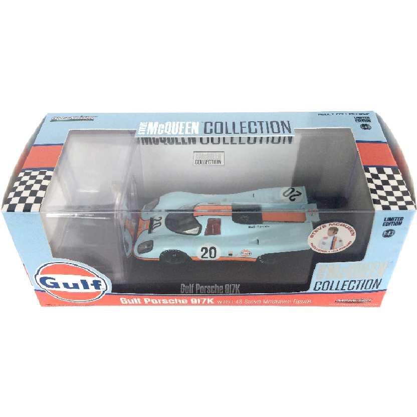 Porsche 917k Gulf Steve Mcqueen Ediçao Limitada Greenlight escala 1/43