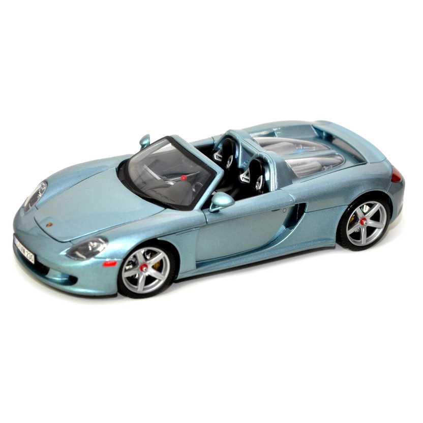 Porsche Carrera GT prata+azul escala 1/18 marca Motormax