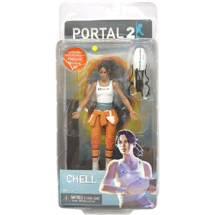Portal 2 Neca Chell with light-up portal gun limited edition action figure