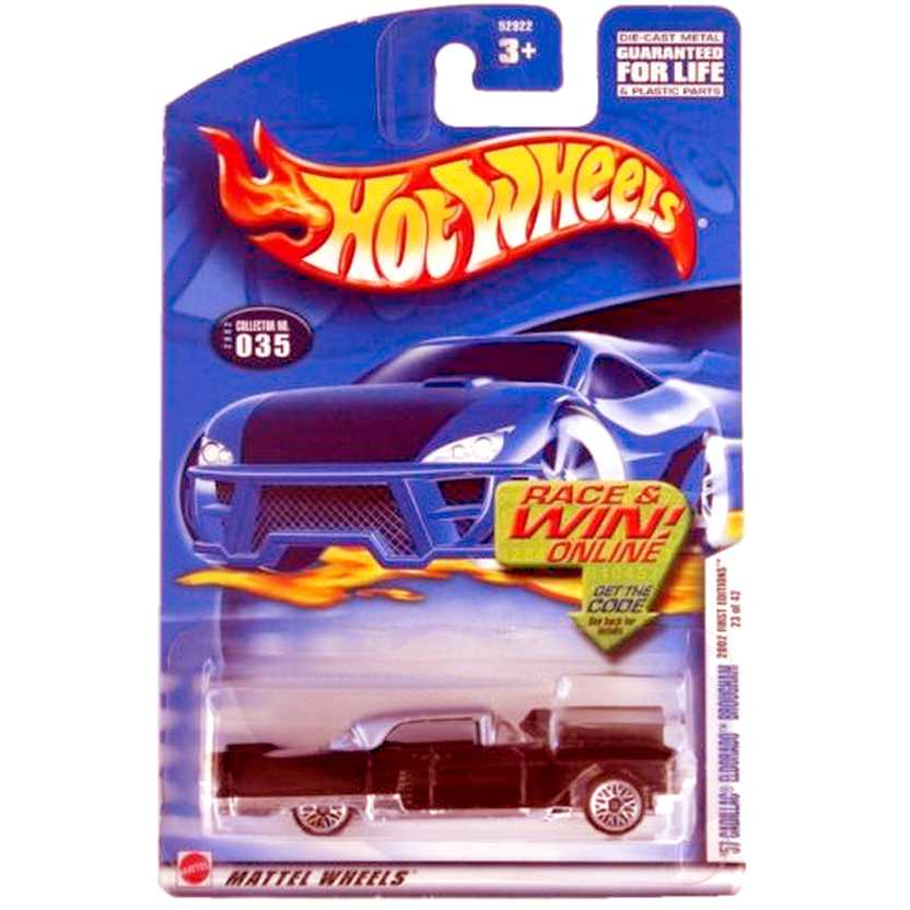 Poster 2002 Hot Wheels 57 Cadillac Eldorado Brougham 52922 #035 series 23/42