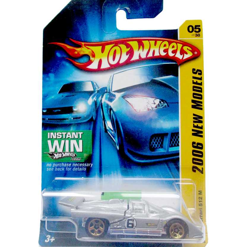 Poster 2006 Hot Wheels Ferrari 512 M J3246 series 05/38 005/223 escala 1/64