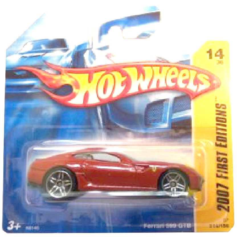 Poster 2007 Hot Wheels Ferrari 599 GTB K6146 series 14/36 014/156 escala 1/64