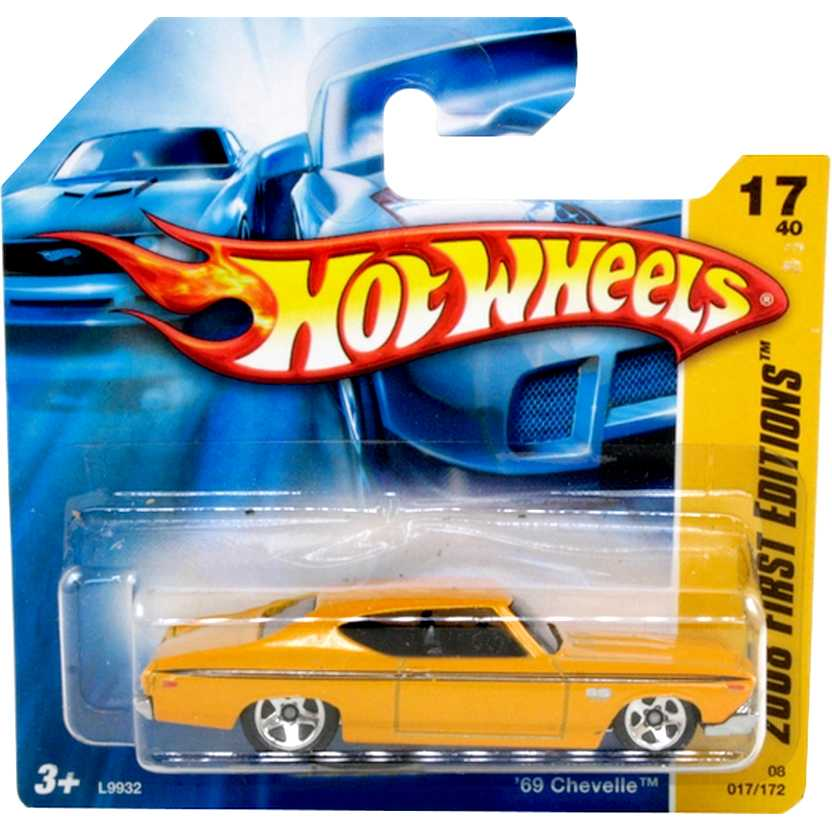 Poster 2008 Hot Wheels 69 Chevelle SS 396 series 17/40 017/172 escala 1/64 L9932
