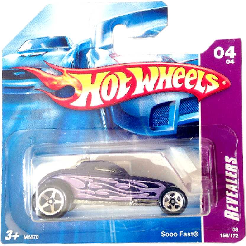 Poster 2008 Hot Wheels Soo Fast Revealers series 04/04 156/172 M6870 escala 1/64