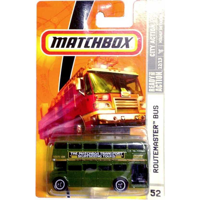 Poster 2008 Matchbox Routemaster Bus Verde #52 escala 1/64 P2960