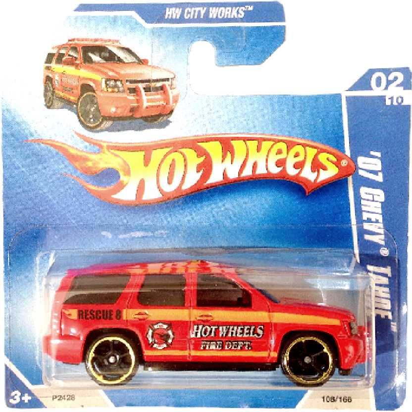 Poster 2009 Hot Wheels 07 Chevy Tahoe Rescue series 02/10 108/166 escala 1/64