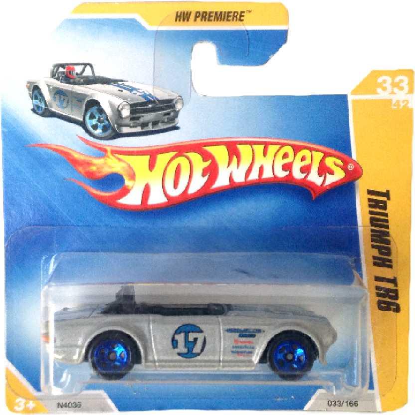 Poster 2009 Hot Wheels Triumph TR6 series 33/42 033/166 N4036 escala 1/64
