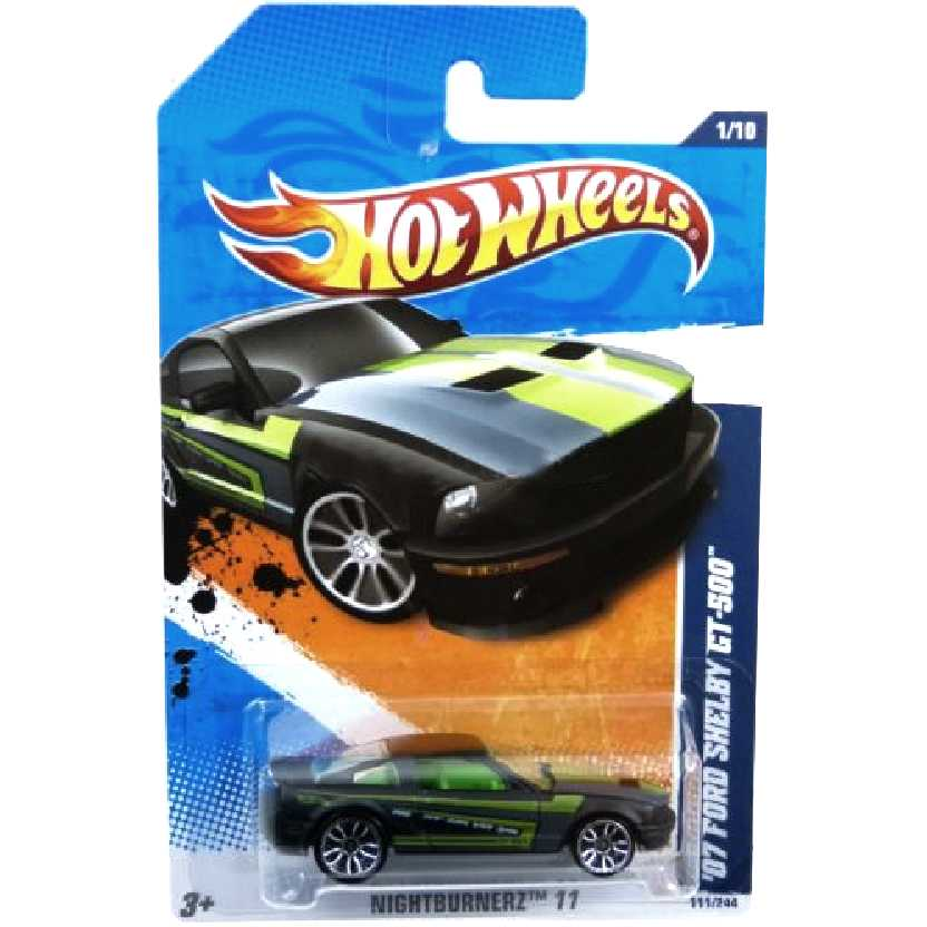 Poster 2011 Hot Wheels 07 Ford Shelby GT-500 V0019 series 1/10 111/244 escala 1/64