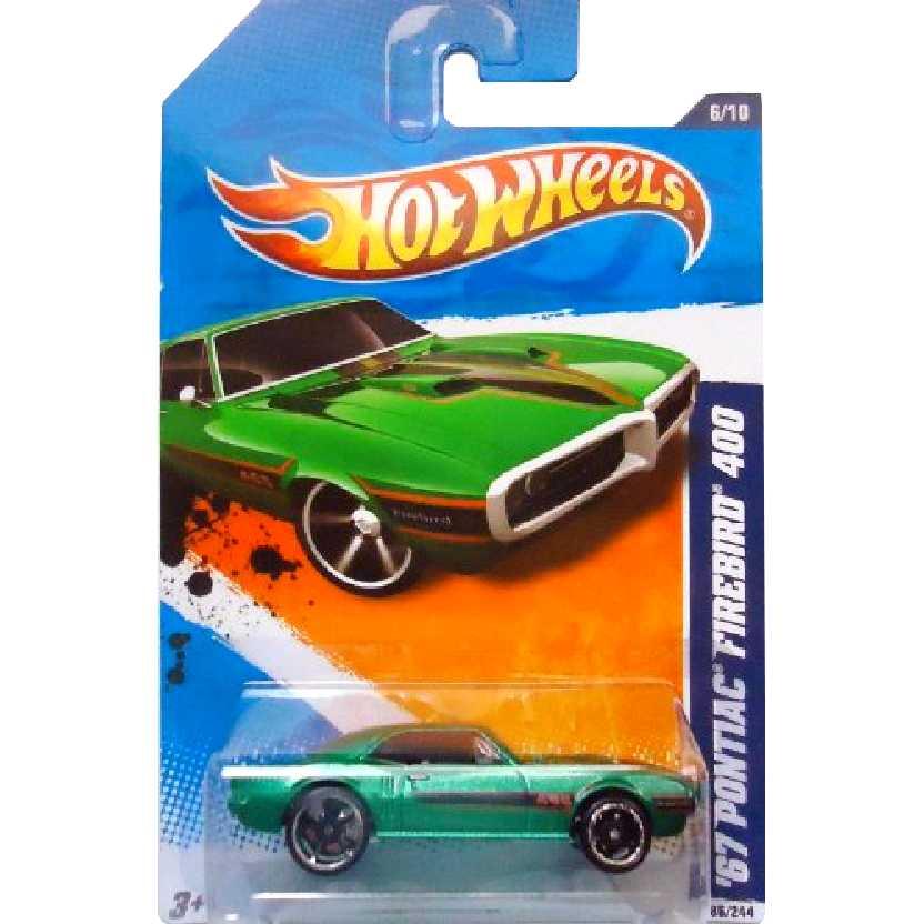 Poster 2011 Hot Wheels 67 Pontiac Firebird 400 V0025 series 6/10 86/244 escala 1/64