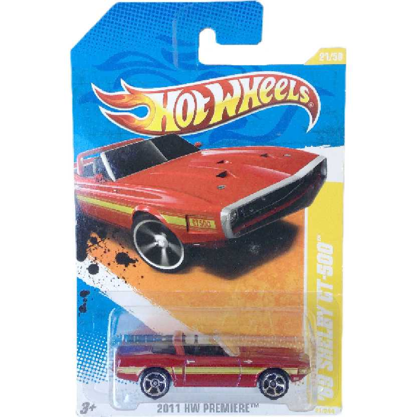 Poster 2011 Hot Wheels 69 Shelby GT-500 series 21/50 21/244 T9691 escala 1/64