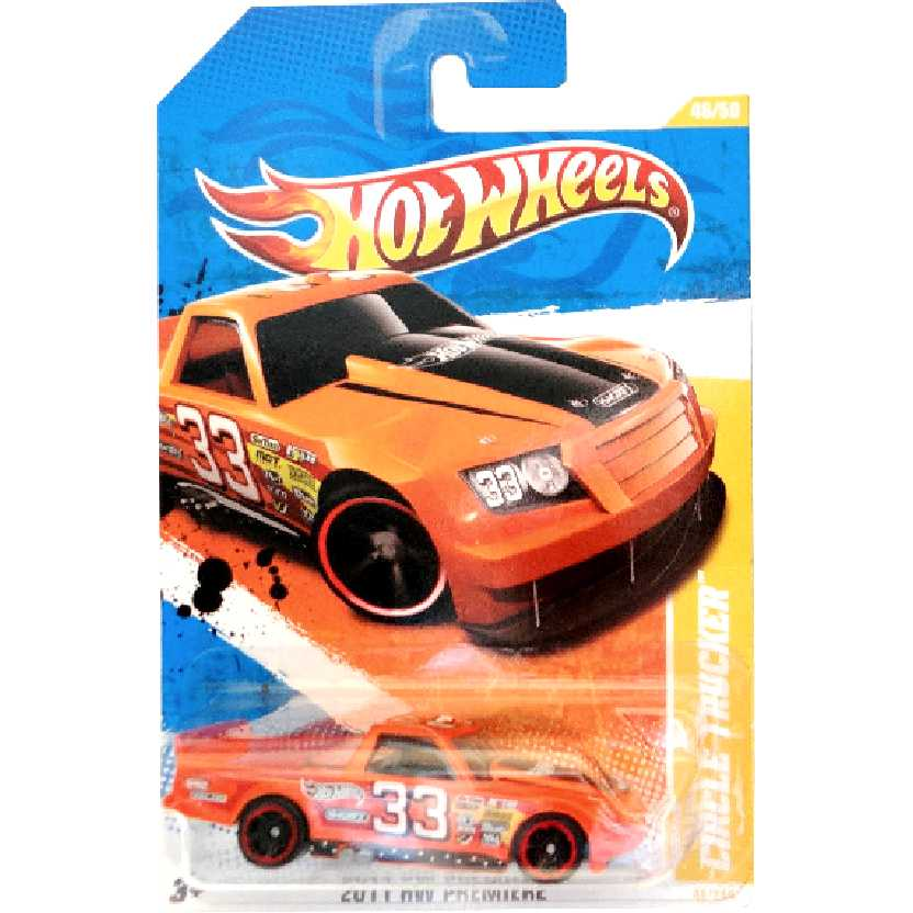 Poster 2011 Hot Wheels Circle Trucker laranja series 46/50 46/244 T9716 escala 1/64