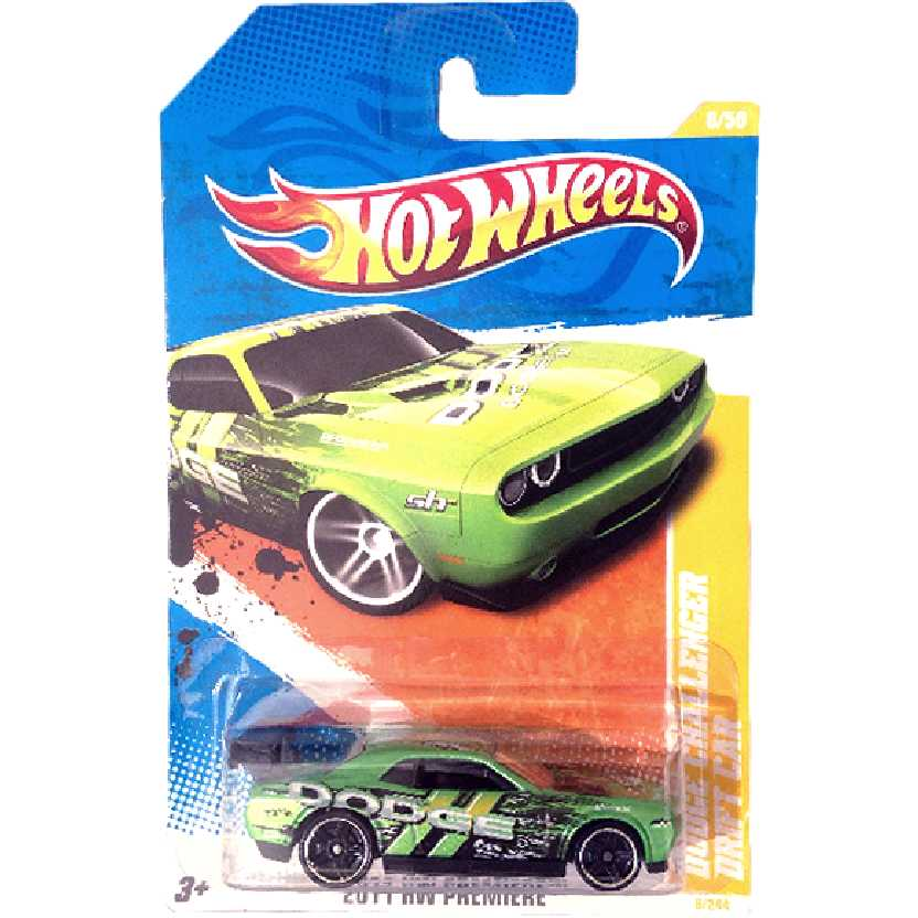 Poster 2011 Hot Wheels Dodge Challenger Drift Car series 6/50 6/244 V0001 escala 1/64
