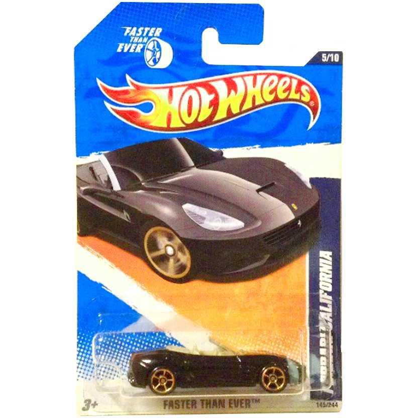 Poster 2011 Hot Wheels Ferrari California series 5/10 145/244 T9852 escala 1/64