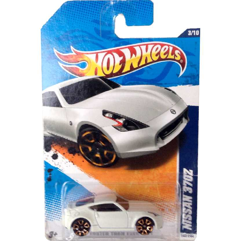 Poster 2011 Hot Wheels Nissan 370Z series 3/10 143/244 escala 1/64 raridade