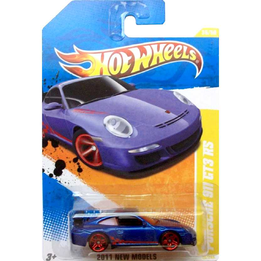 Poster 2011 Hot Wheels Porsche 911 GT3 RS T9936 series 36/50 36/244 escala 1/64