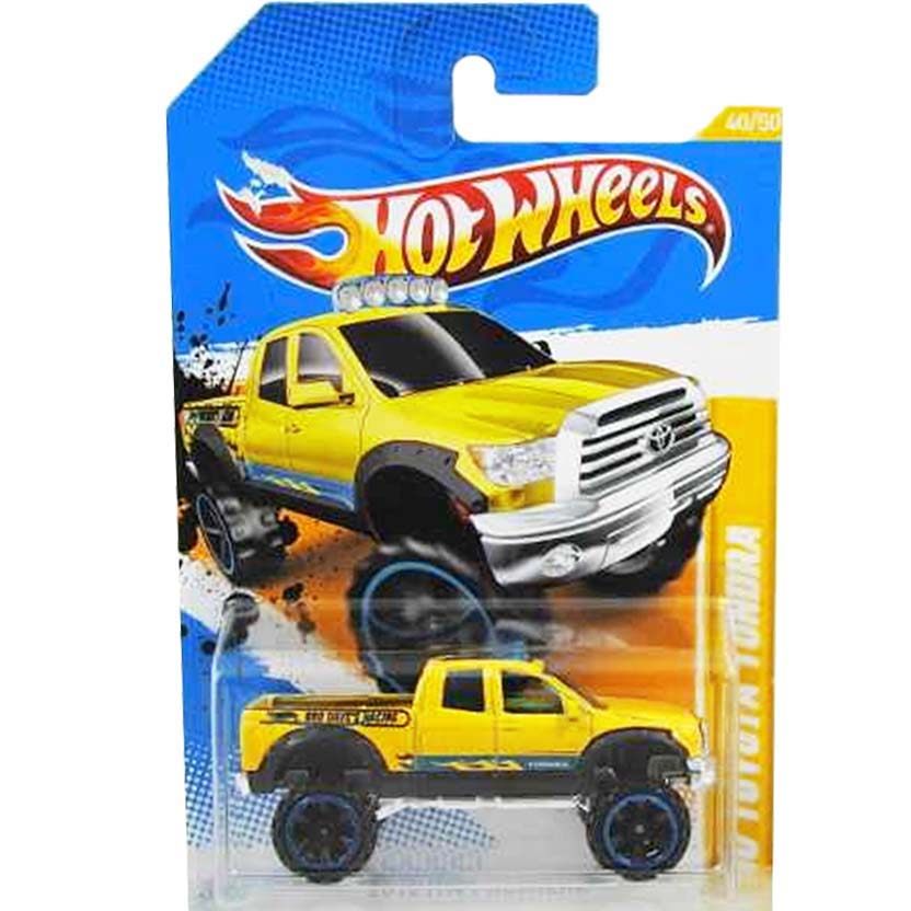 Poster 2012 Hot Wheels 10 Toyota Tundra amarela V5636 series 40/50 40/247