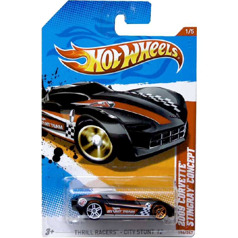 Poster 2012 Hot Wheels 2009 Corvette Stingray Concept V5500 series 1/5 196/247 escala 1/64