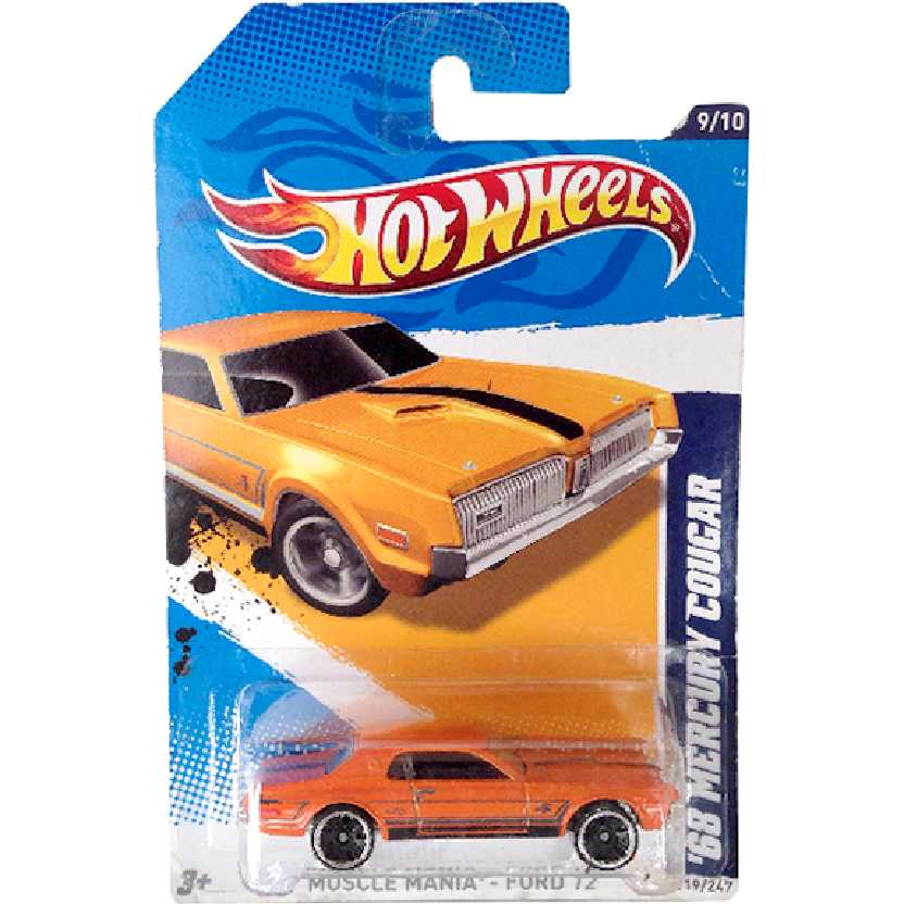 Poster 2012 Hot Wheels 68 Mercury Cougar series 9/10 119/247 V5597 escala 1/64