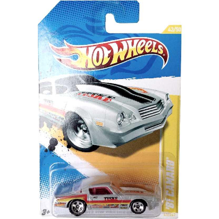 Poster 2012 Hot Wheels 81 Camaro series 43/50 43/247 escala 1/64