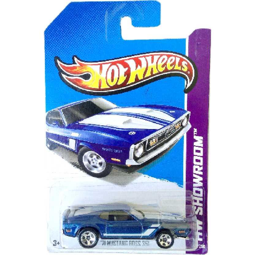 Poster 2013 Hot Wheels 71 Mustang Boss 351 series 224/250 X1802 escala 1/64